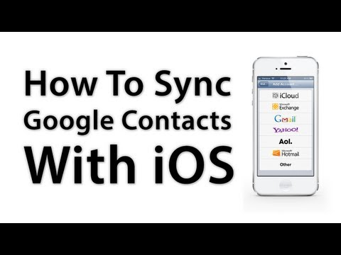 how to sync all contacts to google