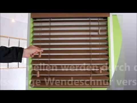 Bedienung unserer günstigen Topdeal Holzjalousien