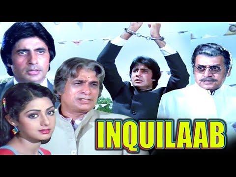 Inquilaab Full Movie | Amitabh Bachchan Hindi Action Movie | Sridevi | Bollywood Action Movie