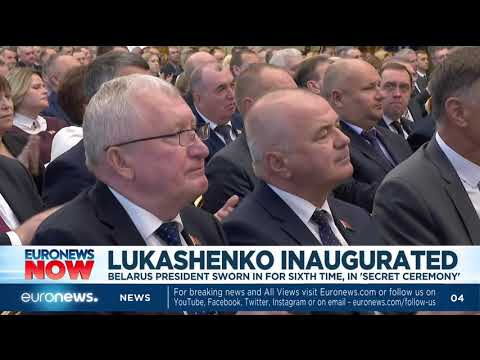 Lukashenko sworn in for sixth time, in 'secret ceremony'