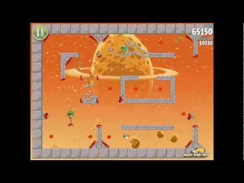 Angry Birds Space E-9 Pig Dipper Golden Eggsteroid (Egg) 9 Walkthrough 3 star (видео)