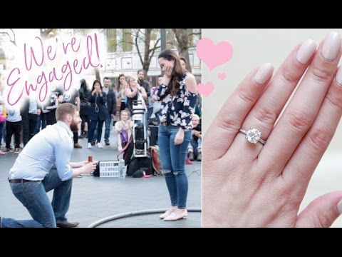 We're Engaged! The Proposal and Ring!
