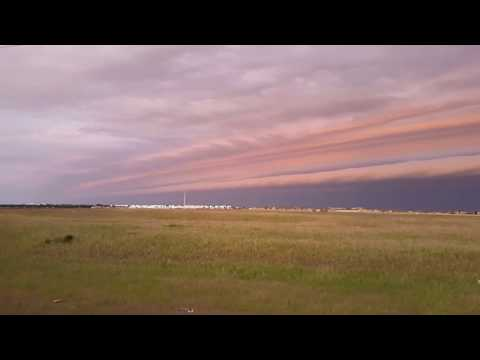 Shelf cloud stretches far and wide