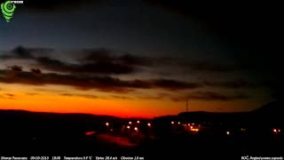Roč, Pogled prema zapadu 05-03-2015 Night HD TimeLapse