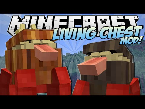 Minecraft | LIVING CHEST MOD! (The Indestructible Chester!) | Mod Showcase