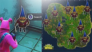 How To Find Hidden Gnomes in Fortnite! Search Hidden Gnome Spawn Locations! (Fortnite Week 7 Gnomes)