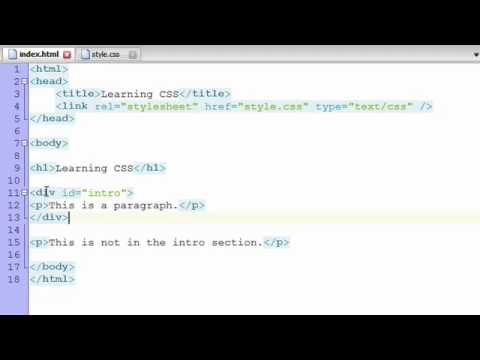 css - In this video we learn how to add basic styles to a page with CSS. You can also view this same lesson material in written form: http://learnwebcode.com/what-...