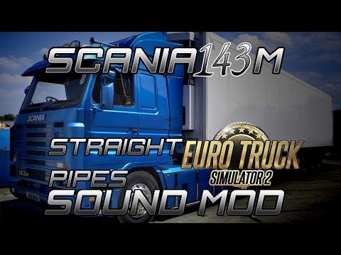 Realistic Scania 143m Straightpipe sound mod