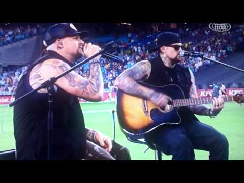 Joel Madden - singing.