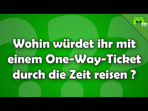 Wohin mit einem One Way Ticket durch die Zeit ? - Frag PietSmiet ?!