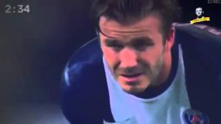 The last 5 minutes of David Beckham on the pitch   Emotional Moments