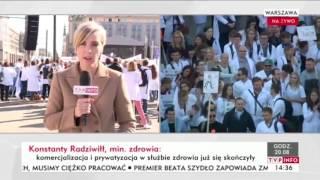 Kulisy manipulacji TVPiS przekazu z manifestacji Służby Zdrowia.