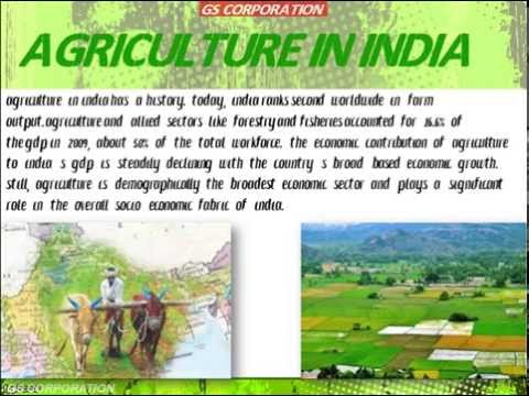 Agriculture in India educational