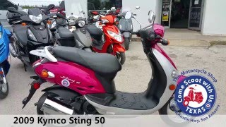 1. 2009 Kymco Sting 50 red used moped