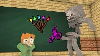 Video Monster School Mobs : Fidget spinner Challenge & Drawing - Minecraft Animation MP3, 3GP, MP4, WEBM, AVI, FLV Agustus 2018