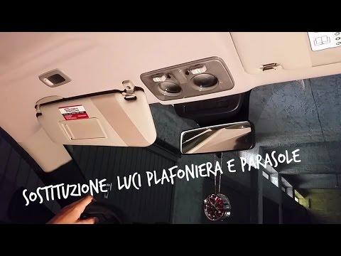 Sostituzione luci plafoniera e parasole su Alfa Romeo MiTo