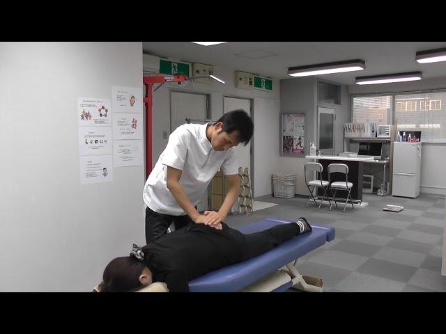 【施術動画】腰を反らすのが辛い腰痛 大殿筋を使って筋膜リリース 僧帽筋をゆるめる