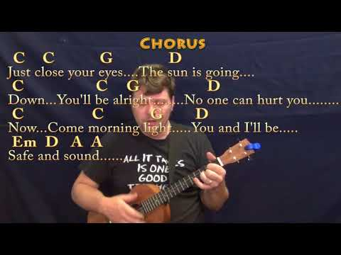 Safe And Sound Taylor Swift Ukulele Cover Lesson In Em With Chords ...