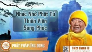 HT Tôn sư Trúc Lâm nhắc nhở Phật tử TVTL Sùng Phúc năm 2002