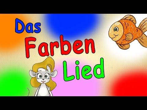 Farben lernen für kleinkinder deutsch - Das Farbenlied - lerne die Farben kennen - german color song (видео)