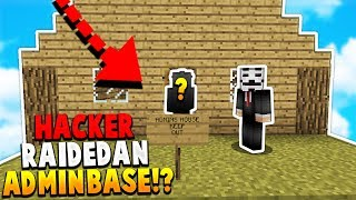 HACKERS THINKS HE RAIDED AN ADMINS HOUSE! - (Minecraft Hacker Trolling)