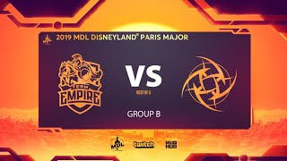 Team Empire vs NiP, MDL Disneyland® Paris Major, bo3, game 2 [Lex & NS]