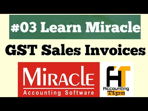 Create Sales & Purchase Invoice & Entry In Miracle Accounting Software [Lesson:3]|- Accounting Tips