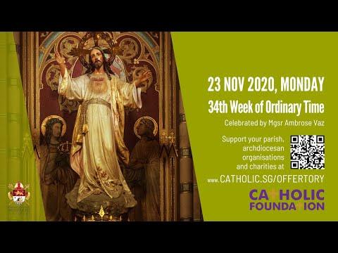 Catholic Mass Today Live Online - Monday, CF Thanksgiving Mass 2020