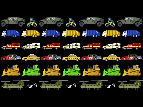 Vehicle Patterns 2 - ABAB - Street, Emergency, Military - The Kids' Picture Show (Fun & Educational)