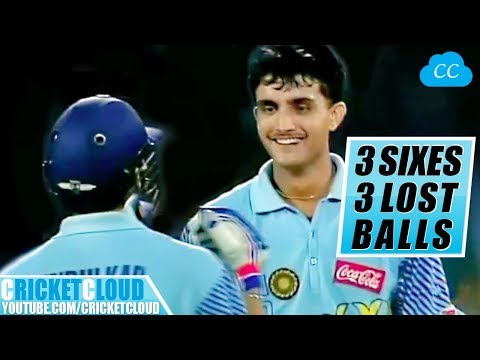 Sourav Ganguly DADA On Beast Mode !! 3 SIXES - 3 LOST BALLS !!