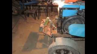 Мини трактор из мотоблока Постройка