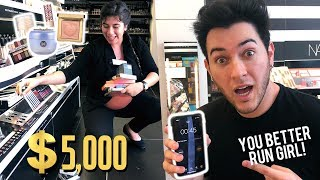 ANYTHING YOU CAN CARRY, I'LL PAY FOR CHALLENGE! SEPHORA CUSTOMER EDITION! by Manny Mua