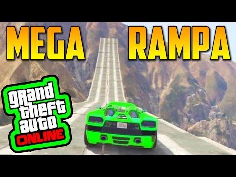 MEGA RAMPA GRANDE!! - GTA 5 Online 1.15 - Funny Moments GTA V Online 1.15 (видео)