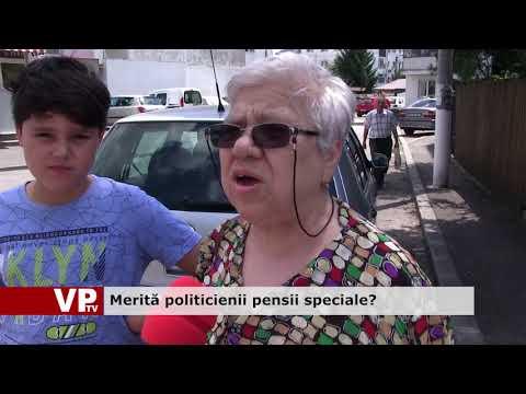 Merită politicienii pensii speciale?