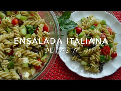 Ensalada italiana de pasta: fácil y rápida