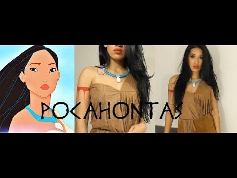 Disney Pocahontas Inspired Halloween Tutorial |DIY Necklace|  CillasMakeup88