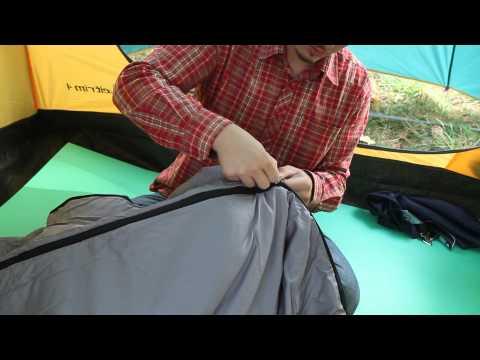 Спальный мешок Alaska «Одеяло с подголовником +10С». Видеообзор.