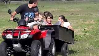 8. Quad ATV Honda TRX250 Fourtrax/Recon testy przyczepki Jula
