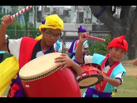 米須小学校運動会(H26.9.21) 高学年のエイサー