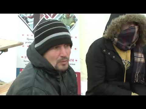 Пункт обогрева для бездомных людей.
