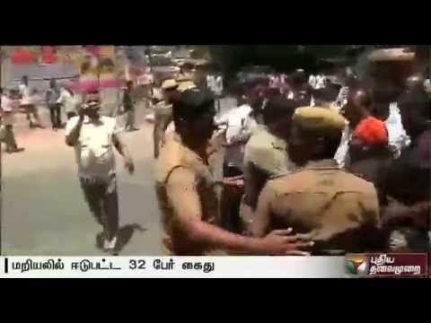 32-persons-arrested-for-staging-road-roko-before-Madurai-hospital