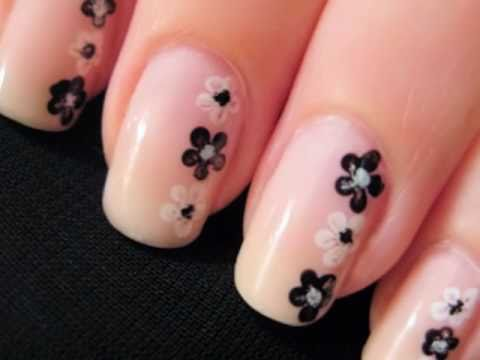 nail art - fiori per principianti