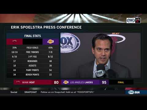 POSTGAME REACTION: Miami Heat at Los Angeles Lakers 11/08/19