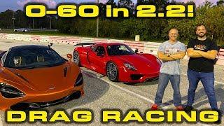 HYPER VS SUPER CAR BATTLE * Porsche 918 Spyder vs McLaren 720S 1/4 Mile Drag Racing by DragTimes