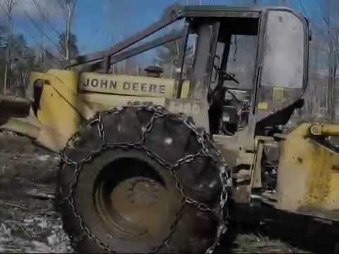 Old John Deere skidder still running