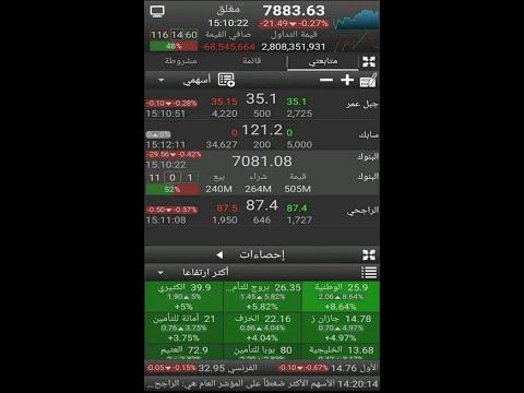 شرح تطبيق الاتجاه للأسهم على الجوال