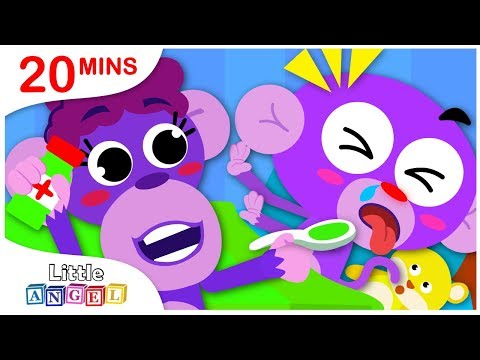 NO NO Health Care Tips - Baby Monkey Gets Sick, Princess Songs, Nursery Rhymes by Little Angel