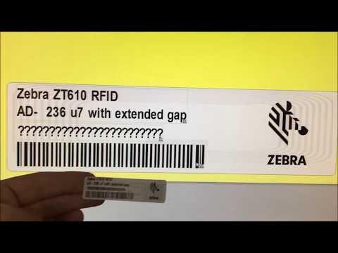 RFID Label Creation: ZT610R, Zebra Designer Pro, and AD-236u7 Labels with Extended Gap