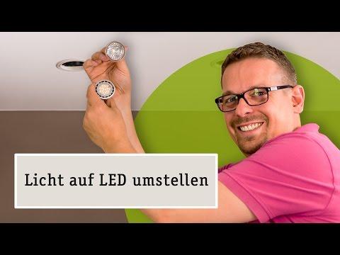 LED Lampen statt Halogen Einbaustrahler - Umrüsten einfach erklärt