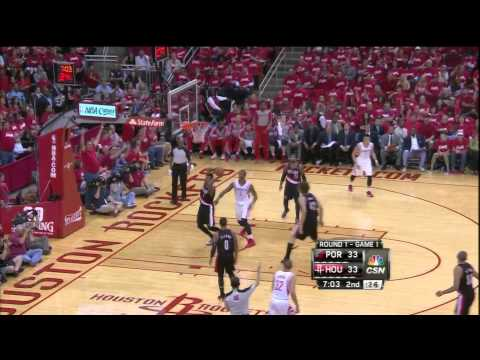 Chandler Parsons pull-up three pointer vs Blazers